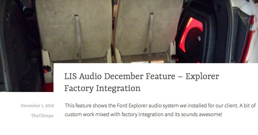 LIS Audio December Feature - Explorer Factory Integration