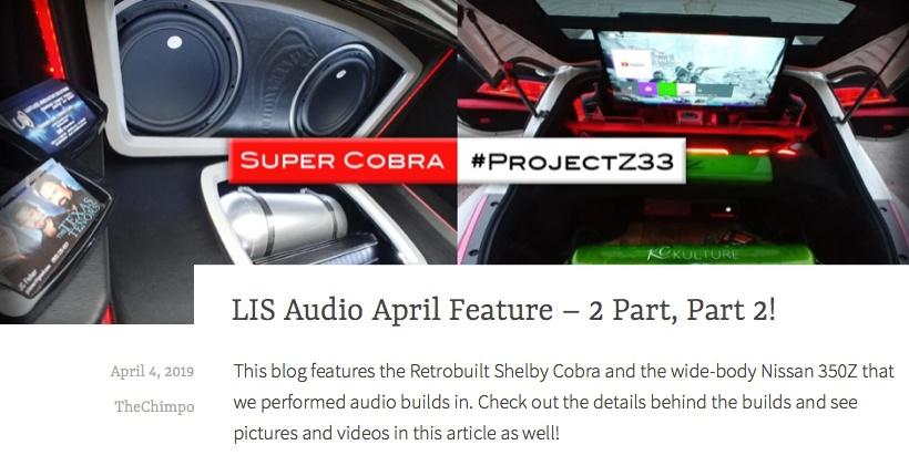 LIS Audio April Feature - 2 Part, Part 2!