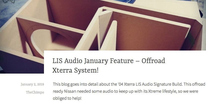 LIS Audio January Feature - Offroad Xterra System