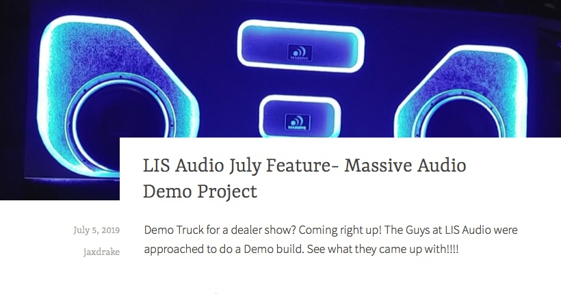 LIS Audio July Feature - Massive Audio Demo Project